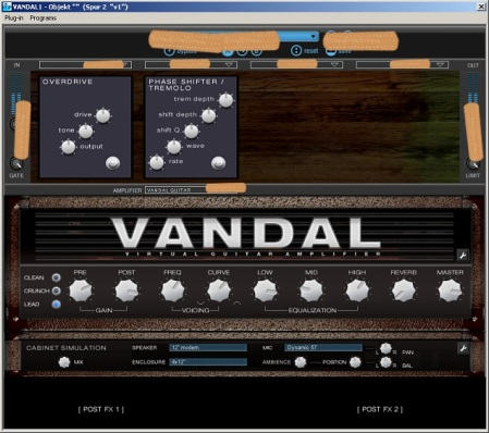 The first UI of 'VANDAL', containing only dummy graphics (as a sketch for the UI guy)
