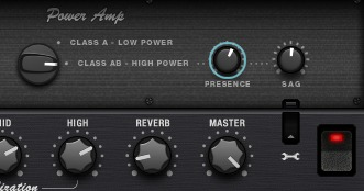 Presence control for the class A/B power amp